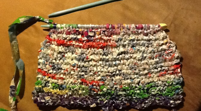knitting with plarn